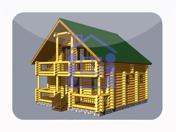 эскизный проект деревянный дом 104.4м из костромы
