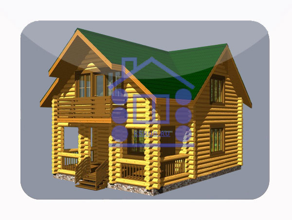 эскизный проект деревянный дом 112.4м из костромы