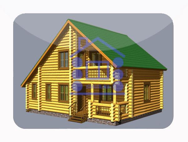 эскизный проект деревянный дом 127.7м из костромы