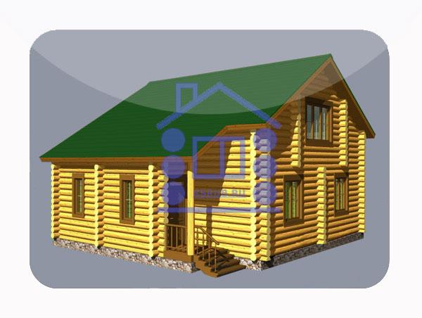 эскизный проект деревянный дом 152,8м из костромы
