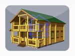деревянный дом из костромы 174,8 м2