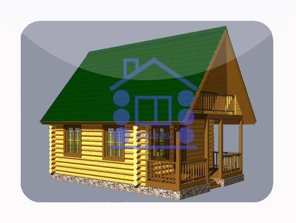 эскизный проект деревянный дом 76.7м из костромы