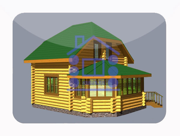 эскизный проект деревянный дом 76,8м из костромы