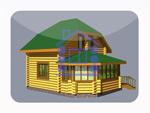 деревянный дом из костромы 76.8 м2