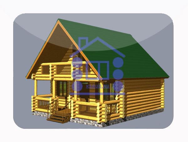 эскизный проект деревянный дом 92.5м из костромы