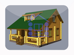 деревянный дом из костромы 98.7 м2
